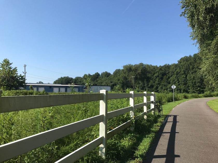 Peaceful bike ride in Mount Airy, NC